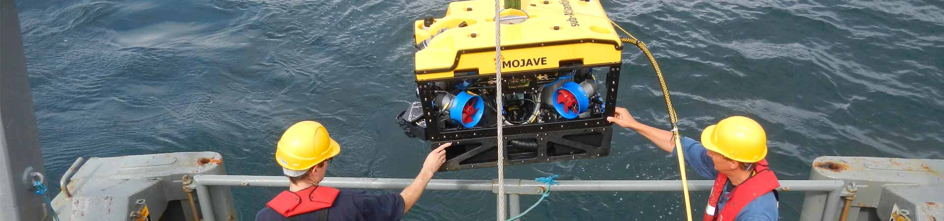 Deploying a remotely operated vehicle (ROV) for testing