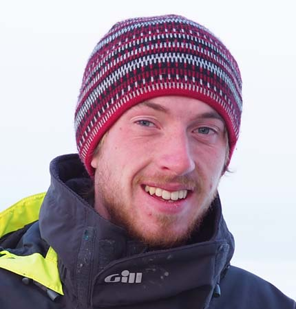 Head and shoulders picture of Jamie Rodgers during a polar expedition in 2018