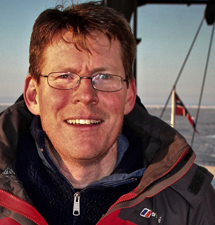 Professor Finlo Cottier on an expedition in the Arctic in 2018 for the Arctic PRIZE project