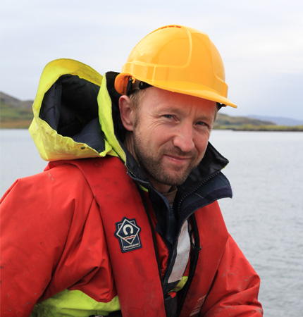 Image of Dr Tom Wilding on fieldwork