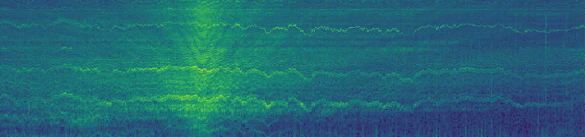 Underwater noise spectrogram from drifting hydrophones in the Pentland Firth while a turbine was operational