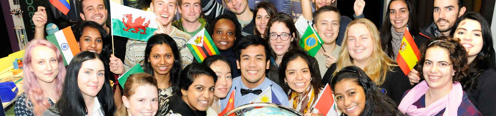 This photo shows two international students enjoying student life on our campus