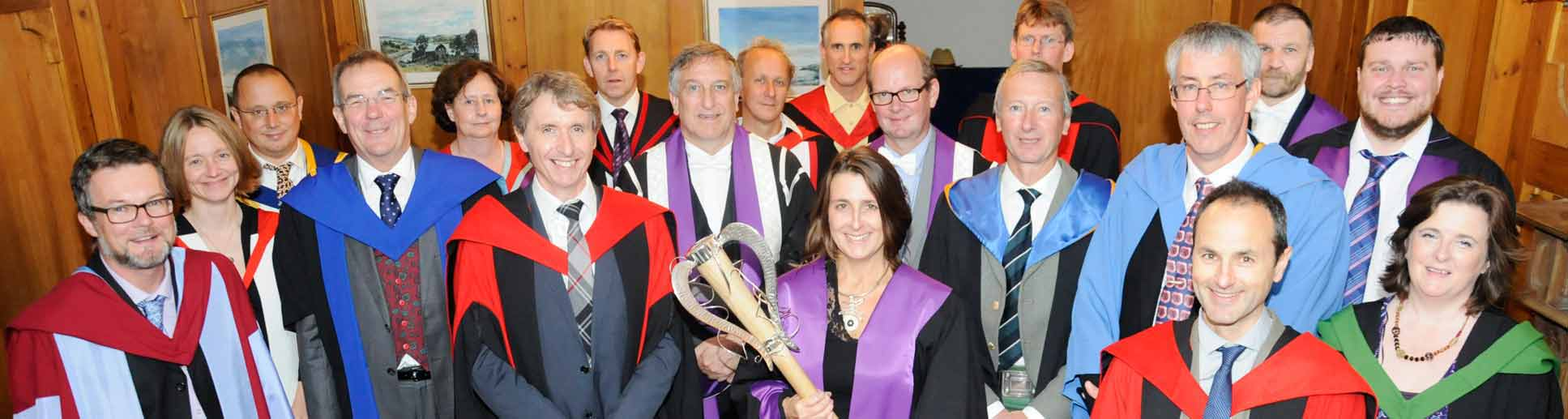Formal gowns worn by the lecturers and university luminaries during a SAMS UHI graduation