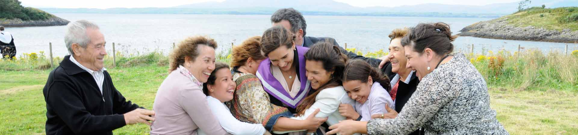 Image of a happy Spanish family during SAMS UHI graduation 2015.