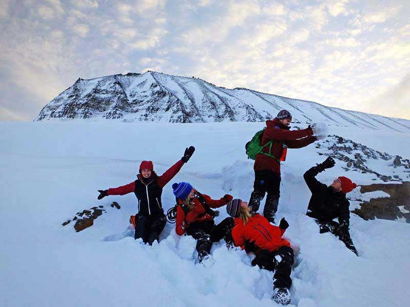 Hiking near Longyearbyen