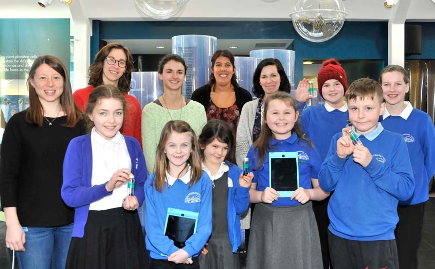 Taynuilt Primary School Eco Committee members met with SAMS microplastics researchers