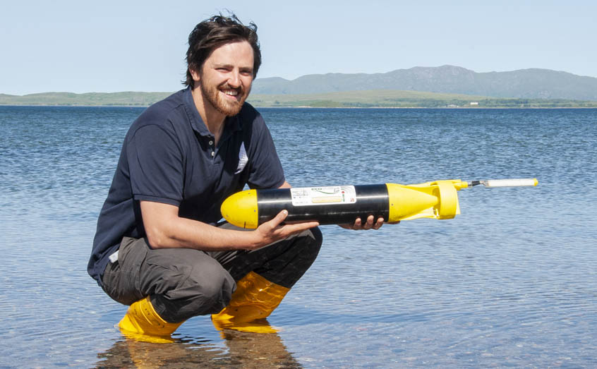 University of the Highlands and Islands PhD student James Coogan will be deploying the ecoSUB on its mission into a hostile Arctic environment