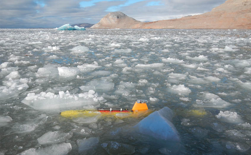 SAMS' Teledyne Gavia surveyed underneath calving glaciers, giving scientists a unique look at the seabed in such environments.