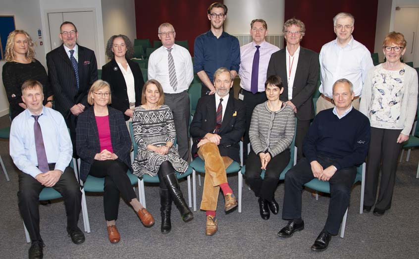 The new-look SAMS governing council with out-going president Prof Geoffrey Boulton (seated, centre)