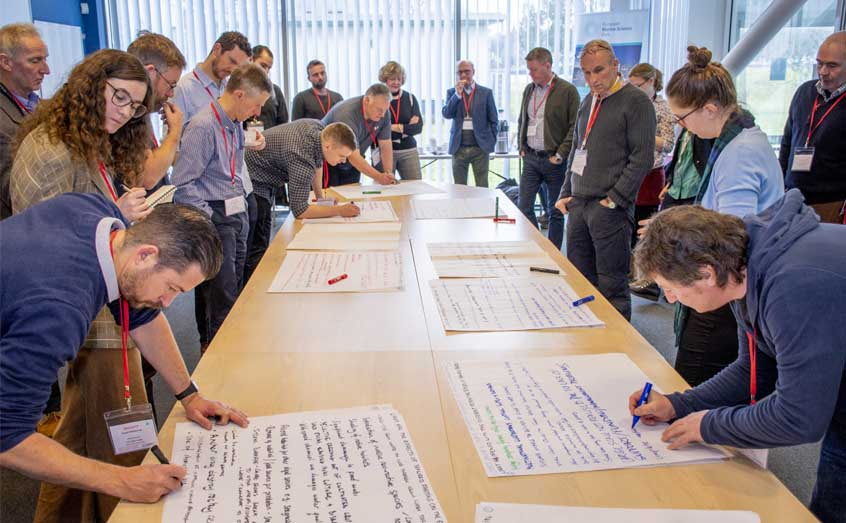 Attendees at a SAMS workshop on the sustainability of Scottish seaweed cultivation note the hopes and risks for a future industry.