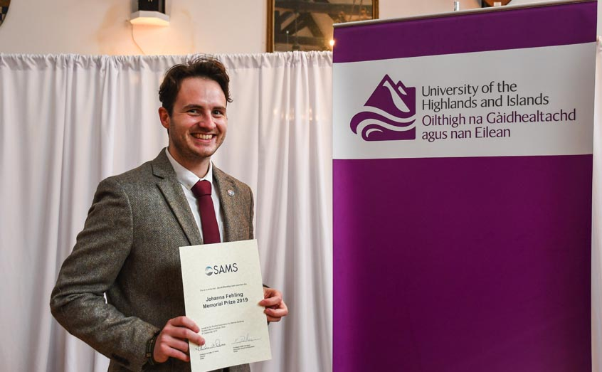 SAMS UHI PhD student Jacob Bentley