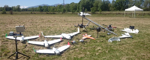 Different types of RPAs assembled on a field