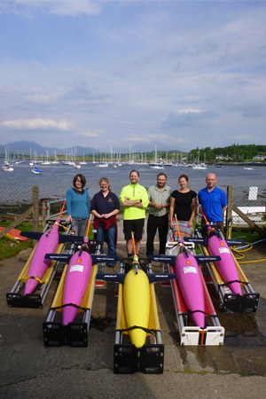 Six scientists and the gliders from the North Atlantic Glider Base